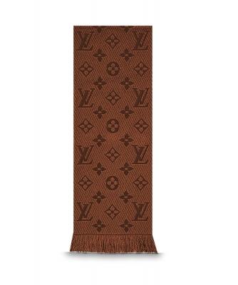 Louis Vuitton Brown Logomania Scarf