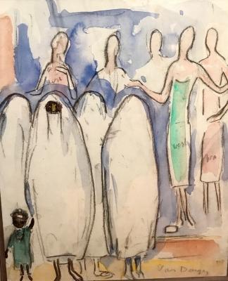 Egyptian veiled woman