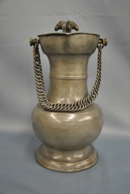 Pewter Swiss tankard, about 1800.