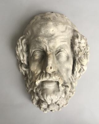 Gipsen kop van Homerus