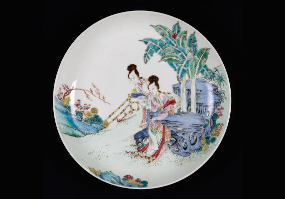 Chinese Famille Rose Plate, Yongzheng