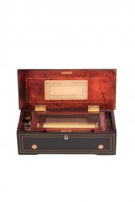A Swiss Ducommun Girod cylinder music box, circa 1860