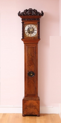 An early Dutch walnut longcase clock by Fromanteel Amsterdam, circa 1690