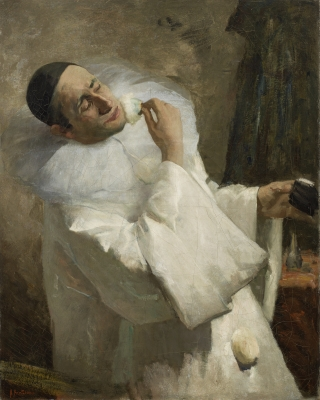 Portrait of a Pierrot (presumably Buziau) - Floris Arntzenius