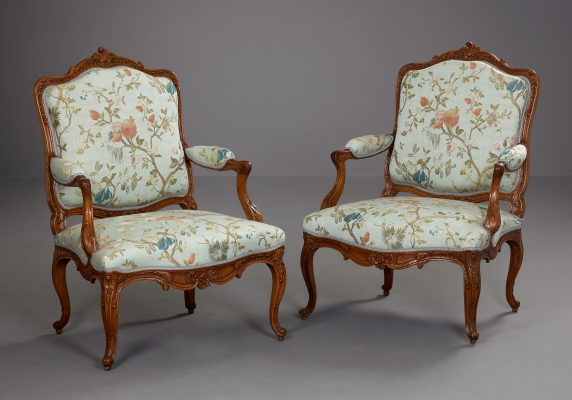 Pair of German Fauteuils