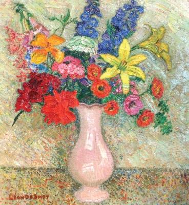 Bouquet in pink vase