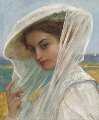 Jonge vrouw aan de waterkant - Lionel Noel Royer