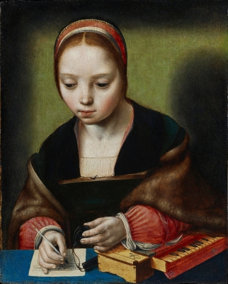 Master of the Female Half-Lengths, ca. 1520-1530, Young Woman with Virginal