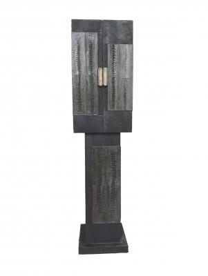F07 R&Y Augousti roggehuid/struisvogel bedekt kabinetje
