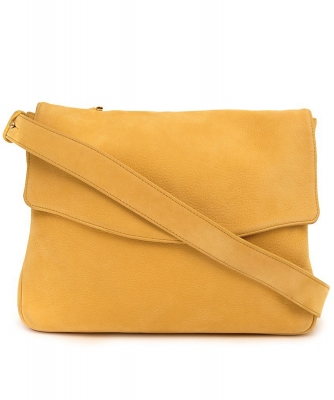 Delvaux Yellow Suede Cross Body Bag