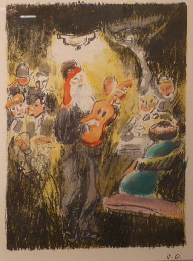 Au Beaux Temps de la Butte, written by Roland Dorgelès. 20 Colourlithographs by Kees van Dongen.