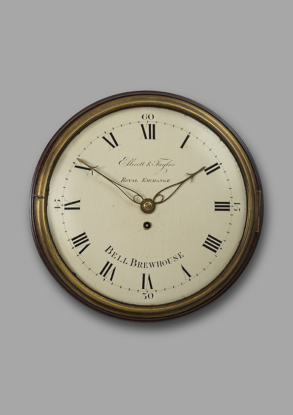 A fine and compact 19th century mahogany wall clock, Ellicott & Taylor, London, c.1815.