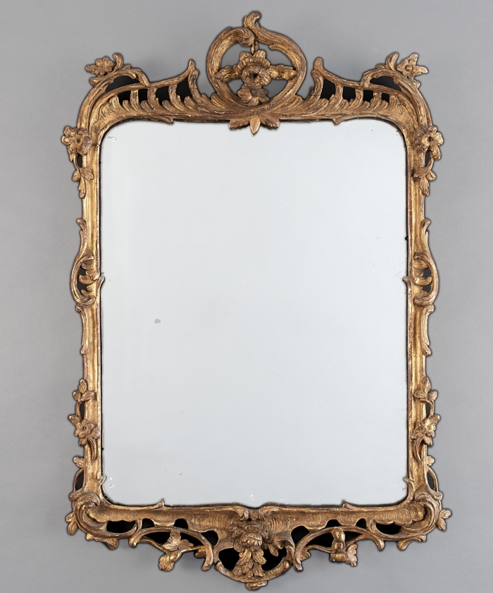 A Rectangular Louis XV Guilded Mirror