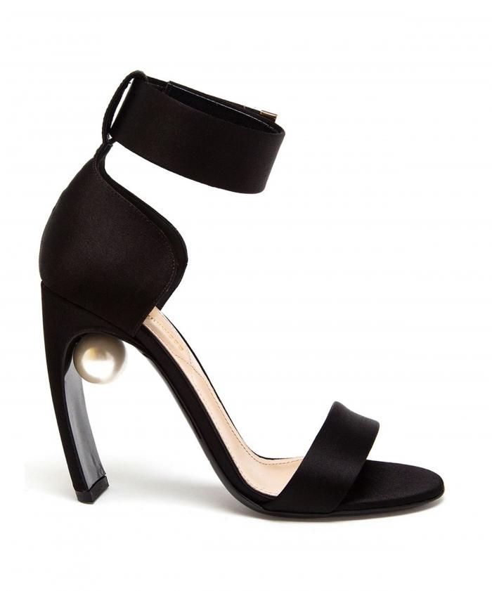 Nicholas Kirkwood Black Maeve Pearl Strap Sandal