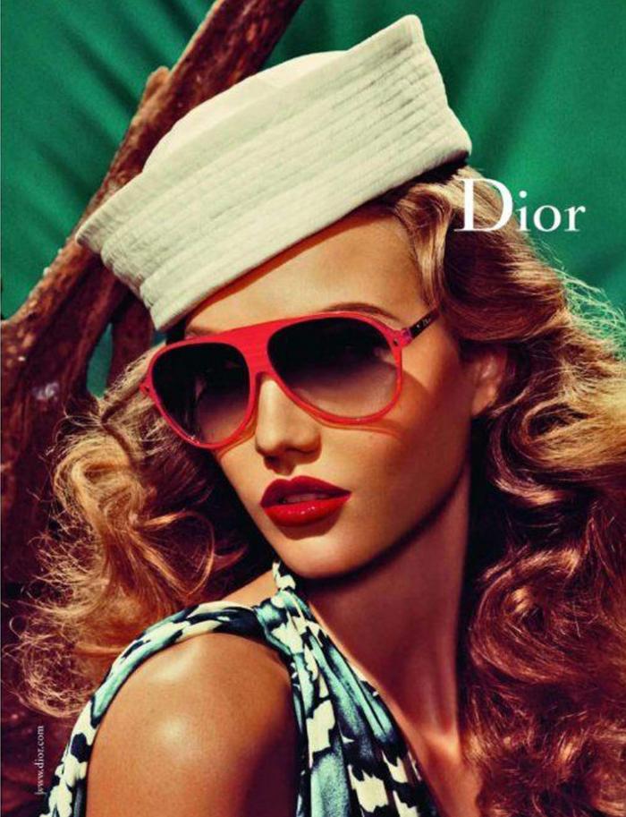 Christian Dior White Cotton Sailors Hat