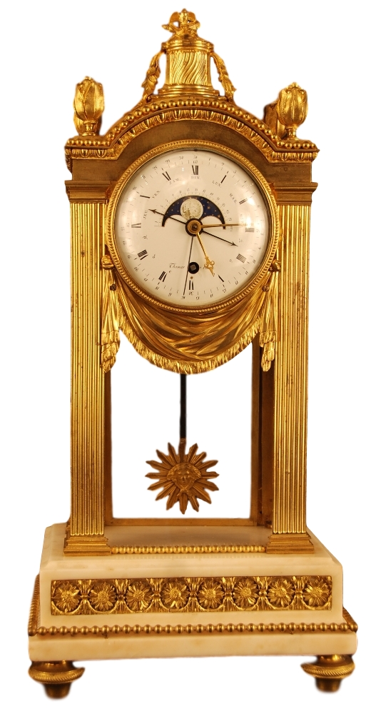 m45 louis xvi mantel clock ca 1780 signed thomas paris artlistings. Black Bedroom Furniture Sets. Home Design Ideas