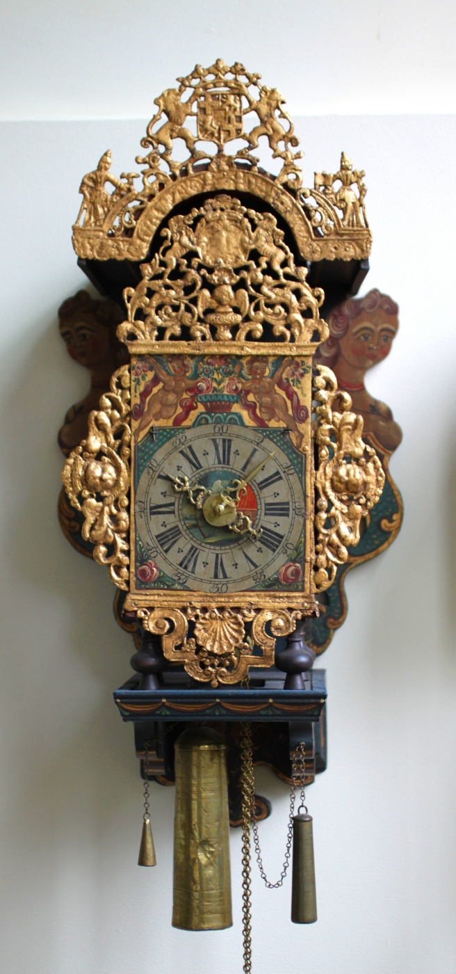 An Attractive Frisian Wall Clock With Utrecht Coat Of Arms