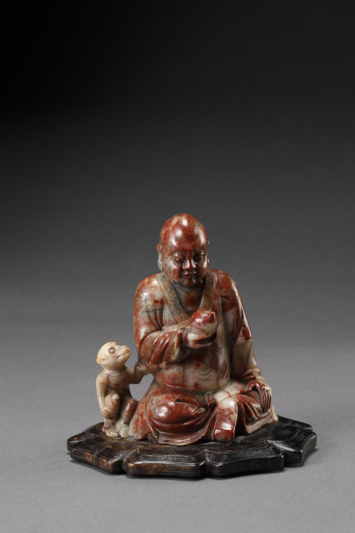 Soapstone Sculpture of a Luohan