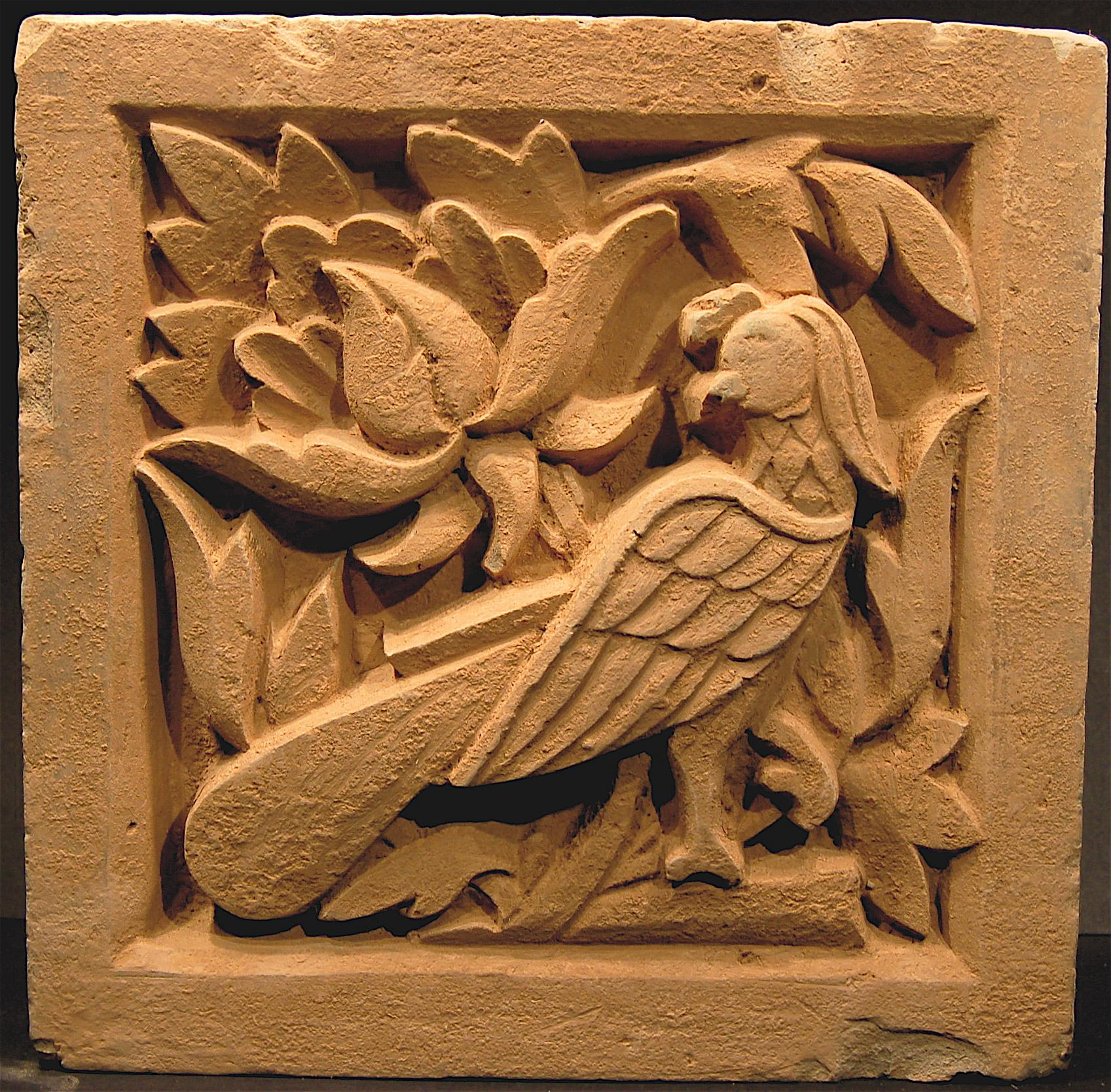 Carved pottery tiles dries blitz