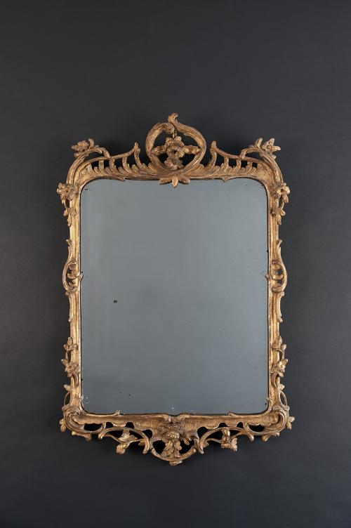 A Louis XV Guilded Mirror