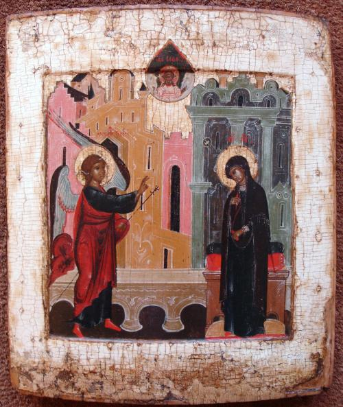 Annunciation wood Russian Icon