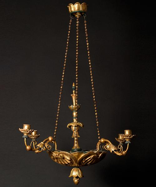 An Austrian Giltwood Four-light Chandelier