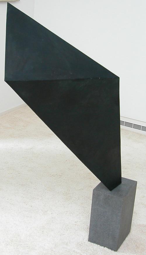 ' oblique geometric statue'