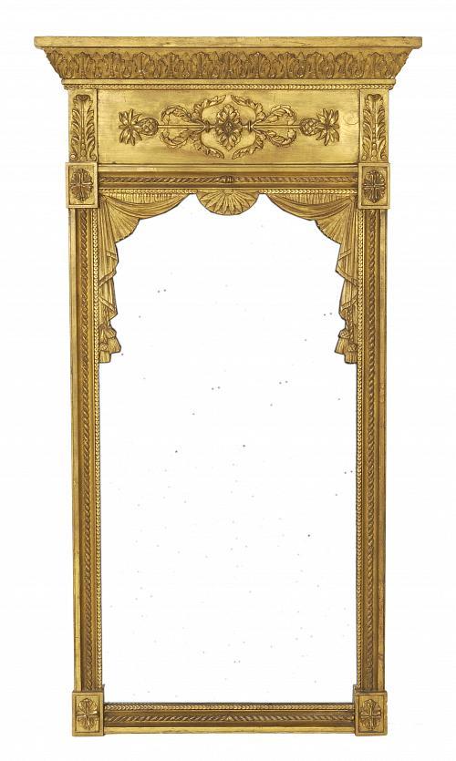 An Empire Giltwood Mirror
